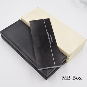 Alta Qualidade MB Marca Pen Gift Box com os papéis Manual do Livro de Luxo Packing Preto MB Pen Caso Pen presente de Natal para