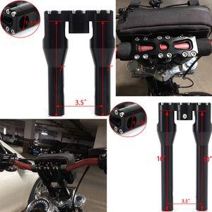 "BIKINGBOY 1 1 8"" 28mm Handlebar Clip On Risers 7"" 8"" 10"" 11"" For Dyna Street Bob Super Glide Low Rider Softail Sportster"