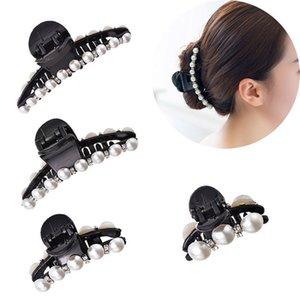 Womens Hair Claw Imitation Pearl voller Strass Größen Haar Werkzeuge Mädchen Haarspange Claw