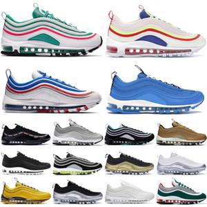 2019 Triple Negro OG QS Designer Sneakers Silver Bullet Zapatillas de deporte para hombre Metallic Gold Corduroy Mujer Zapatos Entrenadores 36-45