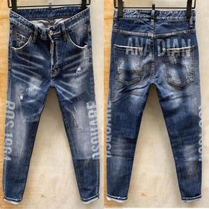 pty Italy ICON Fashion Man Jeans Hip Hop Rock Moto Mens Casual Design Ripped Distressed Skinny Denim Biker Jeans Men Pants Size 44-54 774da