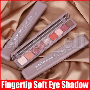 Maquiagem dos olhos na ponta do dedo olho sombra paleta suave Eyeshadow paleta de maquiagem duradoura Suave textura fosca Shimmer Glitter 9 Cor Sombras 3 estilos