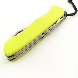111mm outil multi-fonctionnel jaune Couteau suisse en plein air couteau pliant sauvetage Camping survie COUTEAU Cordes