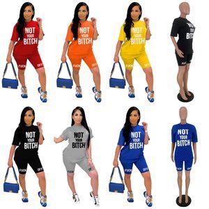 Women Tracksuit Designer Short Sleeve T Shirt Shorts Set Brand Two Piece Outfits Summer Luxury Sports Suit S-XXL 2020 fashion D52816