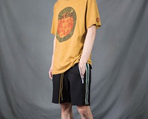 C.E. Cav Empt Face Covering Pattern Washing to Make Old Retro Short Sleeve Loose INS T-shirts for Men and Women