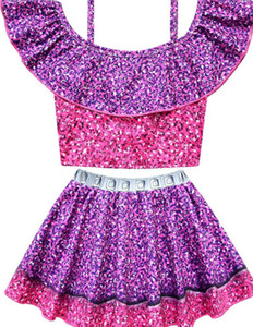 Children's Lol Swimwear Baby Cartoon Cute Swimming Suit Lol Colorful Bikini Summer Sweet Girls Lol Beach Dress Child Beachwear