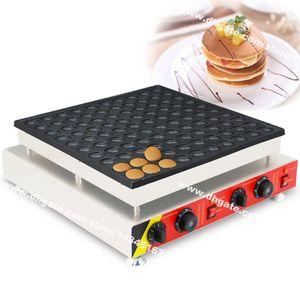 Frete Grátis 100-hole Uso Comercial Não-stick 110 v 220 v Elétrica 4.5 cm Redonda Mini Pancake Maker Máquina de Ferro Baker