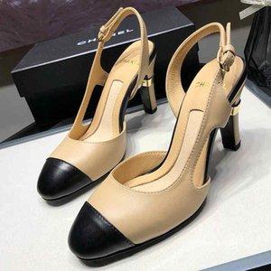 Nouveau Femmes Stiletto Talons Hauts Sandales Casual Luxury Designer Shoes en cuir véritable de haute qualité Défilé de mode tendance Wearable