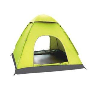 Nueva calidad de camping al aire libre 2 personas 2 puertas doble barra de fibra de vidrio a prueba de agua portátil tienda CTS002
