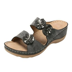 Flower Women Sandals Fashion Wedges Shoes For Women Slippers Summer Shoes With Heels Sandals Flip Flops Beach Casual