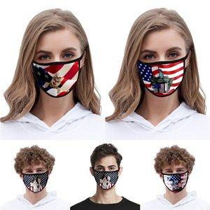 En Stock Donald Trump lujo del diseñador reutilizables de tela de algodón lavable manera de la boca de la mascarilla Usa mujer unisex 17 estilos rápida Nave # QA444