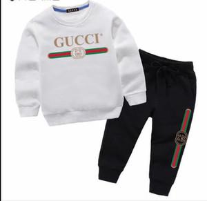 2020 di marca del progettista del neonato Abbigliamento Tute autunno casual neonata copre gli insiemi dei bambini del vestito pantaloni Felpe + Sport Spring bambini Set