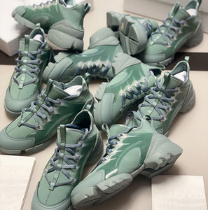 Nueva llegada de agua gris neopreno zapatilla de deporte de los zapatos de papá WomenTriple S Conectar transparente de goma lienzo Formadores con cordones de los zapatos del corredor con la caja