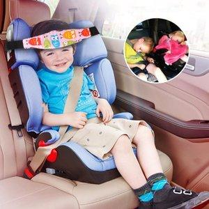 Baby Car Seat Head Suppor Pink Tcotton Fabric Children Belt Fastening Belt Adjustable Playpens Sleep Positioner Saftey Pillows