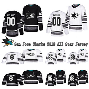 San Jose Sharks 2019 NHL ALL-STAR Game Parley Player Jeresy 8 Pavelski 39 Couture Custom Any Name Any Number Hockey Jerseys