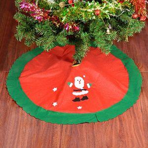 90CM Alberi di Natale Gonne Gonna per albero di Natale a casa Capodanno Forniture per feste di festa Decorazioni per la casa da pavimento Gonna per albero di Babbo Natale BH0224 TQQ