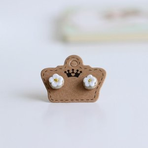 Cheap Stud Boutique Folk Style Ceramic Earrings Earrings Wholesale Crafts Temperament Original Decoration Free Shipping #1674