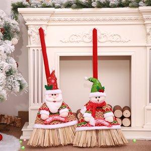 1pcs Weihnachten Besen Abdeckung Weihnachtsmann Schneemann-Puppe Besen Abdeckung für 2019 Start des neuen Jahres Weihnachtsdekoration Partyangebot