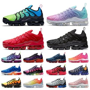 2020 nike air vapormax plus air max tn plust высококачественные мужские кроссовки для женщин Aurora Green Pastel Mix Color Triple Red Черно-белые мужские спортивные кроссовки