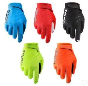 Hot sete off-road moto de corrida homens e mulheres respirável completo dedo luvas de bicicleta luvas de equitação equipamentos desportivos ao ar livre