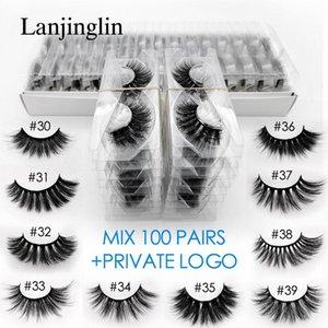 wholesale 3d mink false eyelashes 20 30 40 50 100 pairs private fake lashes natural long makeup lash extension in bulk1