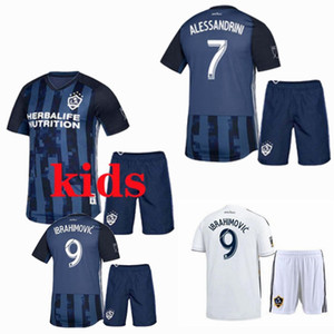 2019 2020 LA Galaxy Kids Soccer Jerseys sets Tracksuits 19 20 IBRAHIMOVIC home away football shirt+shorts