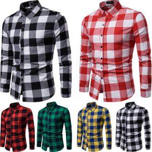 Primavera Nova Mens de flanela xadrez Lumberjack Tartan check shirt de algodão escovado Camisas Casual Moda Streetwear