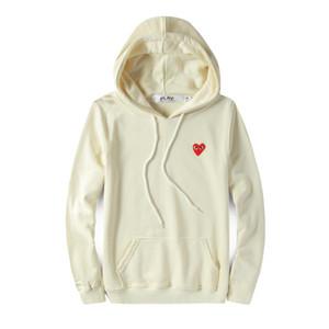 Mens designer giacche C-D-G camicie felpa fuori cuore rosso commes bianchi des garcons cotone cappuccio giacca a vento casuale cappotti giacche invernali