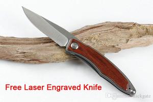 Ücretsiz Kişiselleştirilmiş LOGO 2019 Chris Reeve Mnandi CR Küçük Katlama Bıçak Çelik + Ahşap 7cr13MoV Blade Taktik Bıçaklar Hediyeler DHL P120R Y