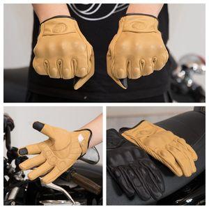 Rock-Motorradhandschuhe Retro-Touchscreen-Leder-Motorradhandschuhe für Style Guantes Moto-Touchscreen-Reithandschuhe KKA6729