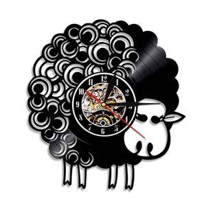Sheep belle Retro Creative Horloge murale 3D Art Déco Horloge Horloge murale classique