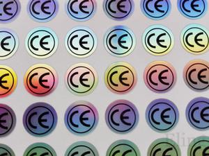 2000 шт CE этикетки наклейки, простой цвет изменение голограммы эффект для Европы сертификат продукции, пункт Нет. FA01