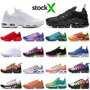 nike air vapormax plus tn zapatos para correr mujeres hombres Triple Negro Blanco Rosa Rise REGENCY PURPLE LEMON LIME Volt Megatron mens trainers Sports Sneakers 36-45