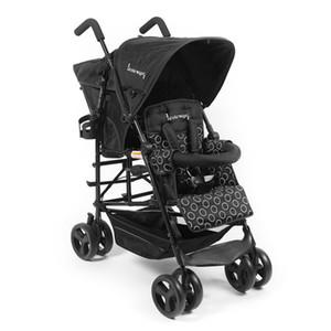 Leve americano Kinderwagon gêmeo do bebê Trolley portátil bebê Umbrella carro pode sentar e deitar Quatro Stroller rodas