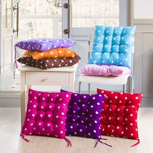 40x40cm Seat Cushions Thick Cushion Square Soft Chair Pad Dining Garden Patio Home Decor Dot Four Seasons Cushion Student Mat