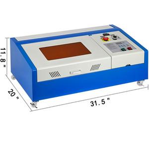 VEVOR Gravur Schneidemaschine Upgraded 40W USB Cutter Stecher CO2 4 drehen Räder Zwei LCD-Display mit Wasserpumpe Cutting