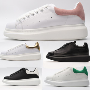 2019 Plataforma blanca de calidad superior a Negro clásica para hombre para mujer de terciopelo vestido de los talones Negro Zapatillas de deporte zapatillas de deporte zapatos de deporte ocasional en monopatín