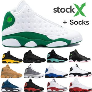 Top 13 Ray Allen PE Bred Chicago Flint Island Green Mens Basketball Shoes Lakers 13s He Got Game Melo DMP Playoff Hyper Royal With