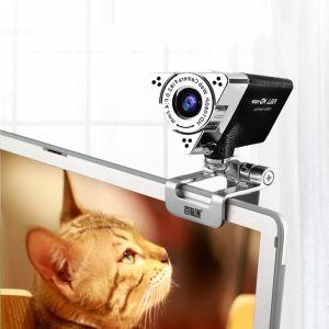 T7S USB Web Kamerası Bilgisayar Kamerası Web kameraları Aoni-Full HD 1080P Masaüstü Bilgisayar Canlı Kamera ile Mic USB Video Webcam
