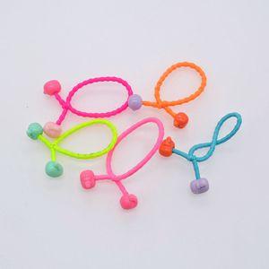 Light Tan Wrap Around Ponytail Holder Elastics Hair Band Assorted Colors Bebe Kid Babies Fasce Per Capelli Spesse sweet07 hTXma