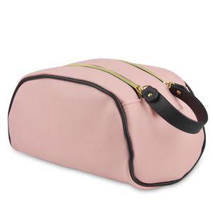 Designer Cosmetic Bag Double Zipper Large Capacity Travel Waterproof PU Wishing Bag Holiday Travel Handbags
