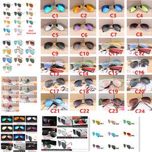 Hot Designer Brand New Piloto Clássico Óculos De Sol Ciclismo Óculos De Sol Para Homens E Mulheres Moda Dazzle Cor Espelhos Óculos