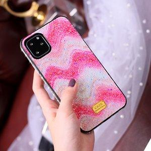 Градиент Радуга блеск кристалл алмаза бампер чехол для iPhone 11 Pro XR XS Max X 8 7 6 Plus Samsung S10 Примечание 10 10 + Huawei P30 Mate 30