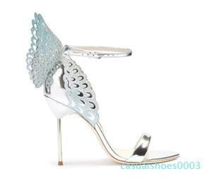 Vente-Femmes Hot Colorful Sandales papillon cheville Wrap Angel Wings Stiletto Escarpins Gladiator Sandales Parti Chaussures de mariage femme c03