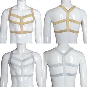 Seksi Kölelik Harness Fetiş Giyim Vücut Kafes Sütyen Açık Göğüs Harness Bra İç Karoseri Kablo Kemer Erkekler Mahsul En bodysuit