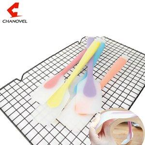 CHANOVEL Beliebte Silikon-Kuchen Sahne Butter Spatel Schaber Rühren Kuchen Utensil Spachtel Pinsel Mixmesser Kochen Gebäck Werkzeuge