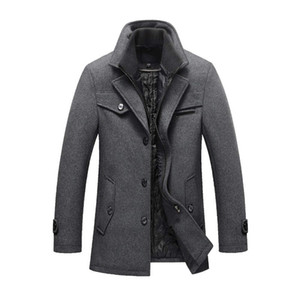 Mens Winter Wool Coat Slim Fit Jackets Mens Casual Warm Outerwear Jacket and coat Men Asian Size M-4XL