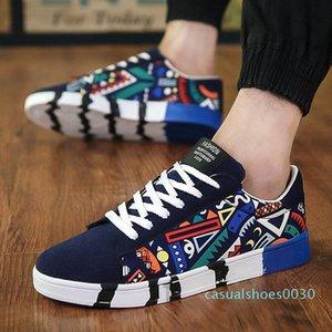 Erkekler Piktogram Günlük Ayakkabılar Moda Genç Sokak Kıyafetler Kore Ulzzang plimsolls Yaz Ayakkabı Dantel-up Genç Tuval Ayakkabı C30