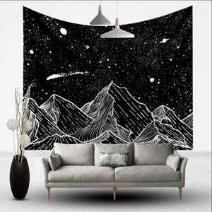 150*200cm White Black Sun Moon Mandala Tapestry Wall Hanging Celestial Wall Tapestry Hippie Wall Carpets Dorm Decor Psychedelic Tapestry