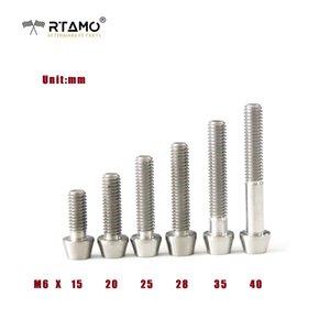 RTAMO / RTAMO / M6x15/20/25/28/35/40mm titanio GR5 DIN912 Esagono Incassato testa conica Bullone aerospaziale grado forgiato a caldo